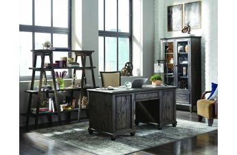 Magnussen Sutton Place 3pc Office Set in Weathered Charcoal